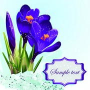 Link toPurple beautiful flower vector background free
