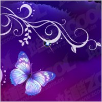 Link toPurple butterfly dream background and patterns