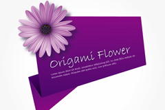 Purple chrysanthemum decorated tag vector
