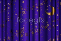 Link toPurple crescent moon pattern curtain vector