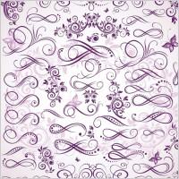 Link toPurple fine pattern vector
