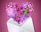 Link tovector background floral Purple
