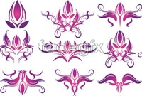 Link toPurple floral design graphics vector