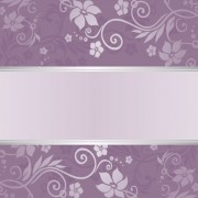 Link toPurple floral ornament pattern backgrounds vector 06 free