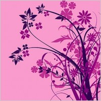 Link toPurple flower silhouette vector fashion