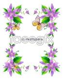 Link toPurple flower text box vector