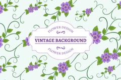 Link toPurple flowers backgrounds vector