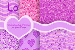 Link toPurple patterns love background vector