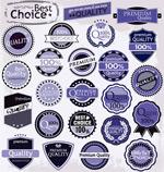 Link toPurple promotional labels vector
