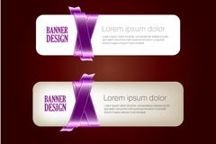 Link toPurple ribbon banner vector