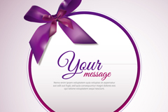 Link toPurple ribbon round card design vector
