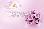 Link toPurple rose bouquets psd