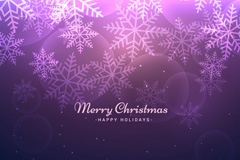 Link toPurple snowflake christmas card vector