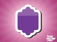 Link toPurple sticker template vector free