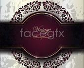 Link toPurple vintage invitation card vector