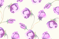 Link toPurple watercolor floral seamless background vector