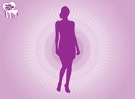 Link toPurple woman silhouette vector free