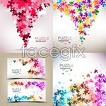 Link toPuzzle pattern background vector