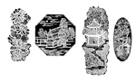 Link toQing dynasty carving patterns vector