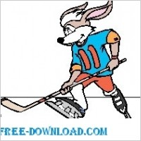 Link toRabbit playing hocky