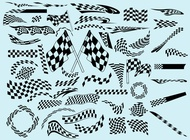 Racing flags vector free