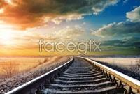 Link toRailroad sunset landscape high resolution images
