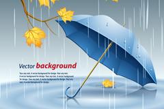 Link toRain in the maple leaf chinese restaurant umbrella vector illustration