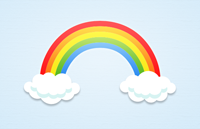 Link toRainbow and clouds psd