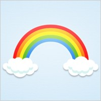 Link toRainbow and clouds