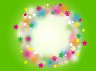 Link toRainbow christmas wreath vector free