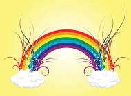 Link toRainbow clouds vector free