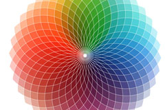 Link toRainbow-colored circular pattern vector