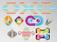 Link toRainbow colored logos vector free