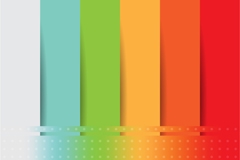 Link toRainbow-colored paper-cutting stripes vector