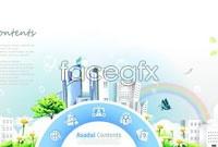 Link toRainbow garden city community poster vector