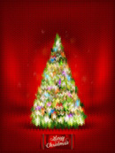 Link toRainbow knitted christmas tree vector