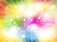 Rainbow light burst vector free