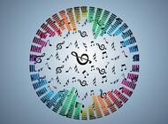 Link toRainbow music design vector free