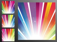 Link toRainbow rays background vector free