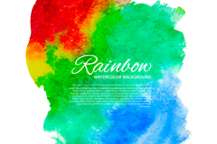 Link toRainbow watercolor background vector