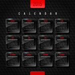 Link toRam crystal label calendar vector