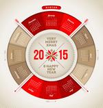 Ram round calendar vector
