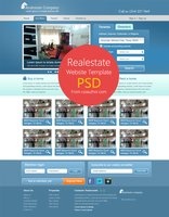 Link toReal estate website template psd for free download