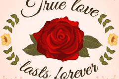 Link toReal love is forever roses-card vector