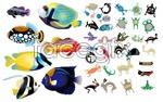 Realism and abstract fish vector