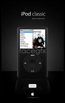 Link toRealistic apple ipod apple mp3 music psd