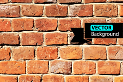 Link toRealistic brick wall background vector