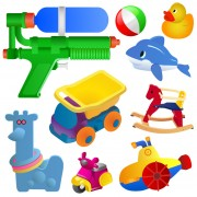 Link toRealistic children toys creative design graphics 04 free