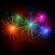 Link toRealistic fireworks colored background vector graphics 02 free