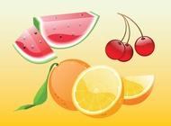 Link toRealistic fruit vectors free